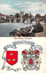 Hereford Wye Bridge River Boats Bateaux Pont Panorama