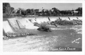 Snake River Falls, Idaho Falls, Idaho, Rppc!