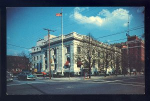 Newport News, Virginia/VA Postcard, US Post Office, West Avenue, 1950's Cars