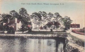 View from South Shore Wharf ,LlIVERPOOL , Nova Scotia , Canada , PU-1916