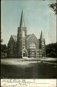 Paxton IL Swedish Lutheran Church c1910 Postcard