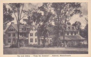 Massachusetts Amherst The Lord Jellery From The Common Albertype