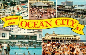 New Jersey Greetings From Ocean City Multi View 1969