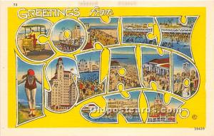 Amusement Park Postcard Post Card Coney Island, New York, NY, USA Amusement P...