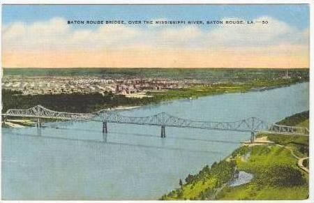 Baton Rouge Bridge, Mississippi River , PU-1945