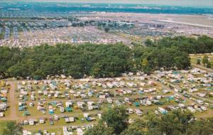 Wisconsin Oshkosh EAA Fly-In Campers Aerial View