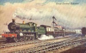Central Express Train, Trains, Locomotive, Old Vintage Antique Postcard Post ...