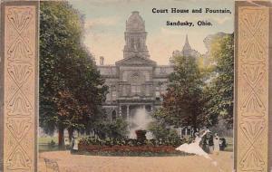 Ohio Sandusky Court House and Fountain