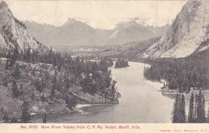 Bow River Valley From C. P. Ry. Hotel, BANFF, Alberta, Canada, PU-1907