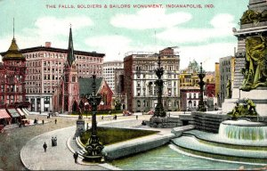 Indiana Indianapolis The Falls Soldiers and Sailors Monument 1908