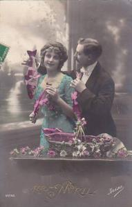 1er Avril April Fool's Day Romantic Couple With Fish 1919