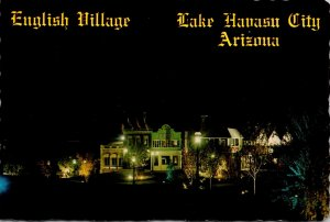 Arizona Lake Havasu City Night View Of The English Village