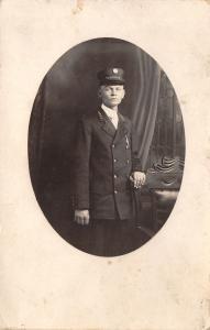 Chicago IL Publisher~Chesapeake & Ohio Railroad Trainman (Coachman) RPPC c1910