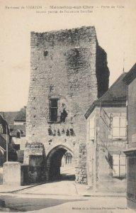 VIERZON , France, 1900-1910s; Menneyou-sur-Cher , Porte de Ville