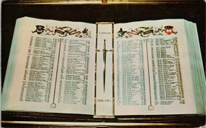 The Book of Remembrance Ottawa ON Unused Leclerc Printers Postcard G5