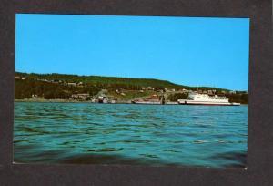 PQ Ferry Trans St Laura St. Simeon Postcard Carte Postale Quebec Canada