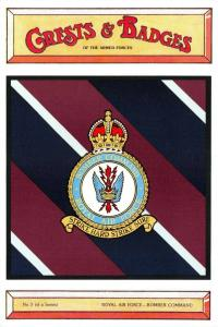 Postcard RAF Royal Air Force Bomber Command Crest Badge No.3 NEW