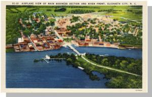 Nice Elizabeth City, NC Postcard, Airplane View, Near Mint!