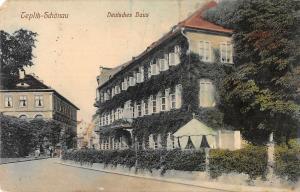 B23565 Teplice Deutsche Haus  czech Teplitz Schonau