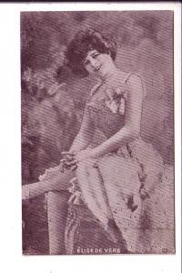 Actress, Elise De Vere, Vintage Postcaard