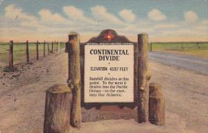 Continental Divide Between Deming and Lordsburg New Mexico 1953 Curteich