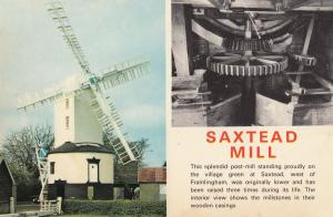 Saxstead Mill Engine Mechanism Suffolk 1970s Postcard