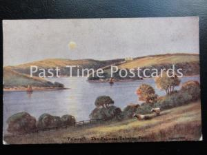 Cornwall FALMOUTH TOLVERNE FERRY The Fal - Old PC Artist C.E. Hannaford by ETW D