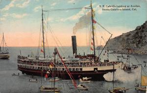 S.S. Cabrillo At Avalon, Catalina Is., California, Early Postcard, Unused