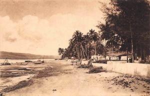 German East Africa Tanzania Lukuledi Bucht mit Zolhaus, Lindi, D.O.A. Postcard