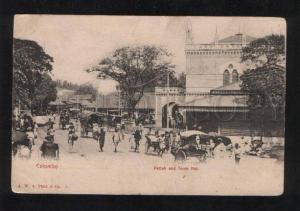 061330 CEYLON Colombo Pettah & Town Hall Vintage PC