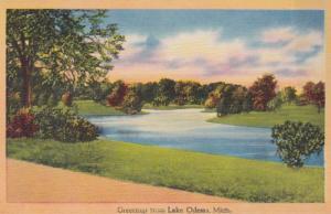 Michigan Greetings From Lake Odessa