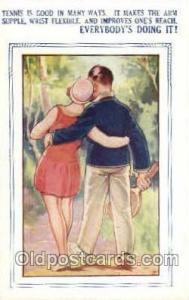 Bamforth Co., Mohegan Lake, N.Y., USA Tennis, Old Vintage Antique, Post Card ...