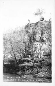 Roaring River State Park Missouri~People @ Deer Leap Cliff~1950s Fields Photo