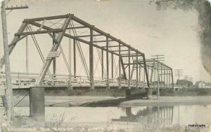 Arkansas Riv Bridge C-1910 La Junta Colorado RPPC Real photo postcard 11006