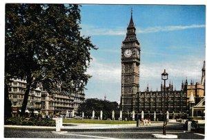 Postcard London Parliament Square and Big Ben