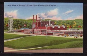 Virginia Postcard DuPont's Nylon Plant Martinsville