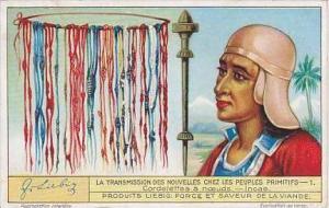Liebig Vintage Trade Card S1266 News Among Primitive Peolpe 1932 No 1 Incas