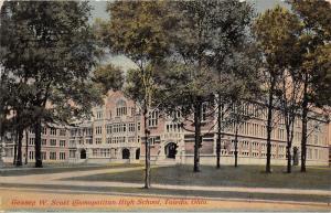 Toledo Ohio~Gessey W Scott Cosmopolitan High School~1913 Postcard