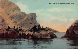 Seal Rocks, Catalina Island, California, Early Postcard, Used in 1914