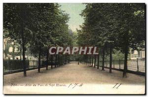 Belgie Belgium Spa Old Postcard Allee of seven hours park