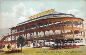 Chester, West Virginia, WV, USA Postcard Scenic Railway, Rock Springs Park Un...