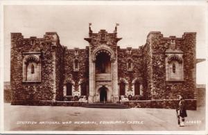 Scottish National War Memorial Edinburgh Castle Scotland Real Photo Postcard D65