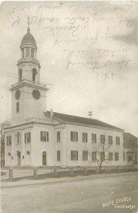Dorchester, MA White Church 1908 B&W Postcard