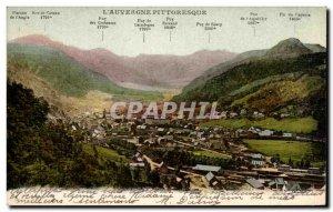 Old Postcard L & # 39auvergne Picturesque Mount Dore