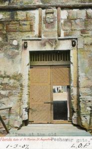 FL - St Augustine, Fort Marion Gate