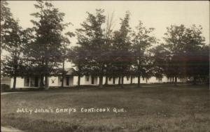 Coaticook Quebec Jolly John's Camps Real Photo Postcard c1920s-30s