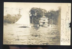 RPPC WHITE PLAIN NEW YORK HASTINGS UPON HUDSON RESORT REAL PHOTO POSTCARD