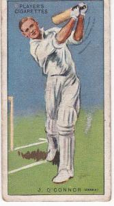 Cigarette Cards Player's Cricketers 1930 No 34 - J O'Connor