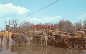 TRAINEES WASH M48 TANKS AT FORT KNOX, KY. Home of the US Army Training Center