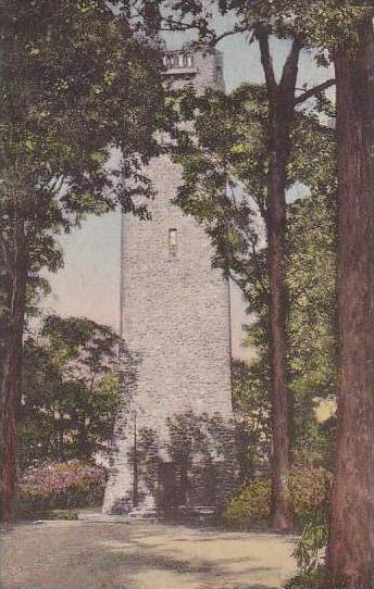 Pennsylvania New Hope Bowmans Tower Handcolored Albertype